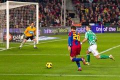 Afellay in der Tätigkeit (FC Barcelona) Stockfotos