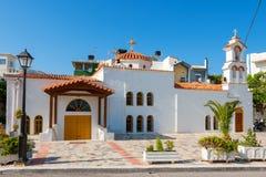 Afendis赫里斯托斯教会。耶拉派特拉,克利特,希腊 库存图片