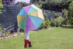 Afer spielen der Regen Lizenzfreies Stockbild