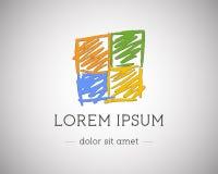 Affär abstrakt logomall för teknologi för royaltyfri illustrationer