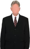 Affär affärsman, ingen framsida, ansiktslöst som isoleras arkivfoton