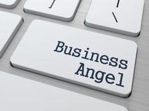 Affär Angel Button på datortangentbordet Royaltyfri Fotografi