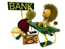 Affär bank Royaltyfria Bilder
