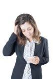 affär belastad kvinna arkivfoton