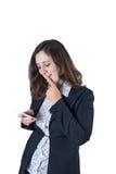 affär belastad kvinna arkivfoto
