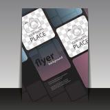 Affär eller företags reklambladmall med fyrkanter Royaltyfria Foton