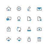 Affär färgad ny symbolsuppsättning 3 stock illustrationer
