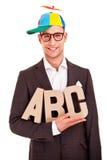 Affär för abc för begrepp för coachning för handstil för affärsman Royaltyfri Fotografi