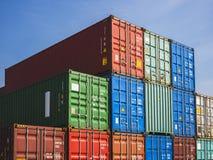 Affär för export för import för lager för frakter för behållarelastsändnings logistisk arkivbild