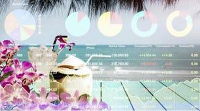 Affär för lopp för analys för data för materielindex lyckad Fotografering för Bildbyråer
