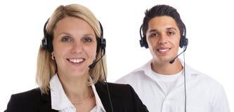 Affär för sekreterare för telefon för telefon för hörlurar med mikrofon för lag för medel för appellmitt Arkivbild