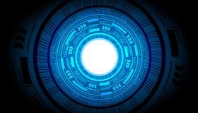 Affär för teknologi för vektor för bakgrund för abstrakt begrepp för framtid för makt för teknologimanöverenhetshud stock illustrationer