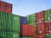 Affär för transport för lager för frakter för behållarelastsändnings logistisk arkivfoton