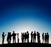 Affär företags Team Strategy Discussion Concept Royaltyfri Fotografi