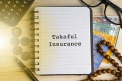 Affär, försäkring och islamiskt begrepp fotografering för bildbyråer