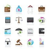 Affär, finans och gruppsymboler stock illustrationer