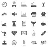 Affär Gray Icon Set 005 stock illustrationer