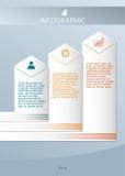 Affär guide01 för presentation för designbeståndsdelmall Arkivfoto