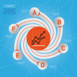 Affär Infographic. Fotografering för Bildbyråer