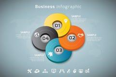 Affär Infographic Arkivbild