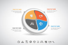 Affär Infographic Fotografering för Bildbyråer
