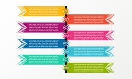 Affär Infographic linje Affären diagrams, presentationer och diagram Bakgrund vektor Arkivbild