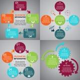 Affär Infographic, mallar, gemkonst Royaltyfria Bilder