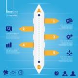 Affär Infographic: Timelinestil, med origina royaltyfri illustrationer