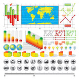 Affär Infographics Arkivfoton