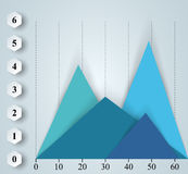 Affär Infographics 3d charts grafer Arkivfoto
