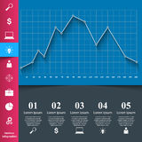 Affär Infographics 3d charts grafer Royaltyfri Foto