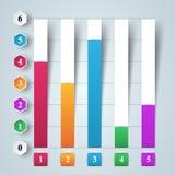 Affär Infographics 3d charts grafer Arkivfoton