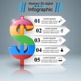 Affär Infographics Dollar pengarsymbol Royaltyfri Bild