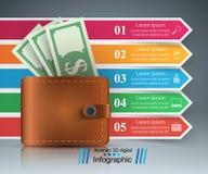 Affär Infographics Dollar plånboksymbol Royaltyfri Foto