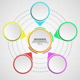 Affär Infographics Ett diagram på en vit bakgrund för dina projekt Mångfärgat tecken och baner Moment banan till succe vektor illustrationer