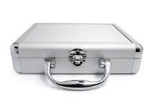 affär isolerad modern silverresväska Arkivbild