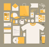 Affär malldesign för företags identitet Brevpapper advertizing, marknadsföringsbegrepp också vektor för coreldrawillustration Royaltyfri Bild