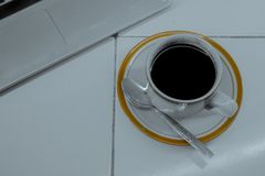 Affär med coffeavbrottstid 3 royaltyfri fotografi