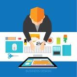 Affär och begreppsmässig vektordesign för kontor Royaltyfri Foto