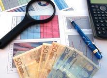 Affär och finansiell framgång Arkivfoto