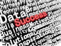 Affär och framgång för begrepp som grafisk visande är skriftliga i rött Royaltyfri Fotografi