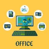 Affär och kontorsbegreppsdesign Arkivbild