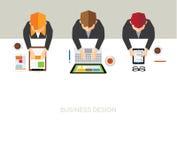 Affär och kontorsvektordesign Royaltyfria Bilder