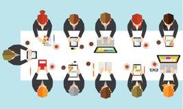 Affär och kontorsvektordesign Arkivbilder