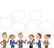 Affär och konversation stock illustrationer