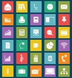 Affär och plana symboler för kontor för rengöringsduk och mobil vektor illustrationer
