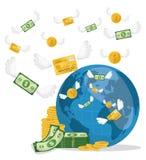 Affär, pengar och världsekonomi Royaltyfri Bild