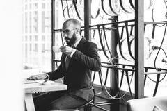Affär Person Work Indoors Concept Arkivfoto
