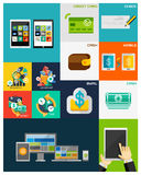Affär | Plana begrepp för finans royaltyfri illustrationer