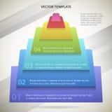 Affär-pyramid-begrepp-broschyr-sida-bakgrund Royaltyfri Fotografi
